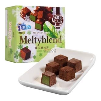 日本MEIJI MELTY雪吻抹茶松露夹心巧克力 40g 冬季限定