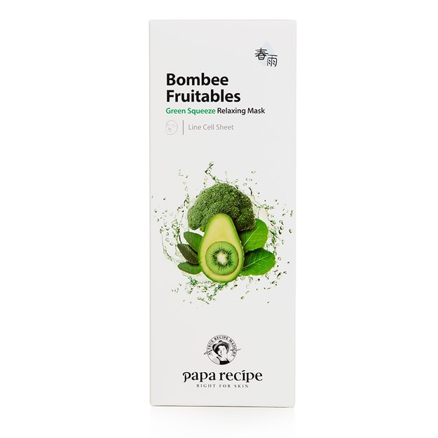 PAPA RECIPE Bombee Fruitables Green Squeeze Relaxing Mask 10 sheet