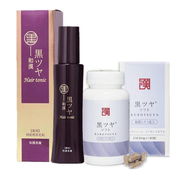 Product Detail - WAKAN Kurotsuya 180 tablet And Hair Tonic 150ml - image 0