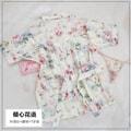 中国 霏慕 性感雪纺透明印花透视系带睡裙 米色彩花(倾心花语)
