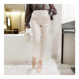 WINGS Mid-High Rise Slimming Ankle Pants #Cream L(29-30)