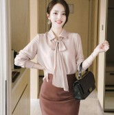 ATTRANGS O-neck blouse pink free