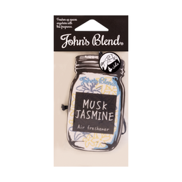 JOHN'S BLEND Hanging Car Fragrance Air Freshener Musk Jasmine 11g