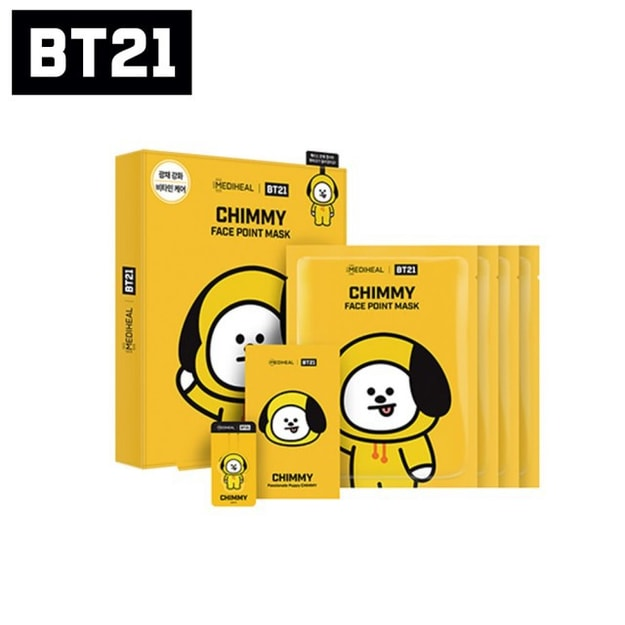 MEDIHEAL BT21 CHIMMY Face Point Mask (4pcs)