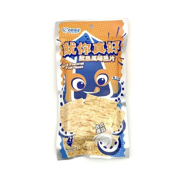 商品详情 - [台湾直邮]大田海洋 鱿鱼风味鱼片 (台式香蒜) 25g - image  0