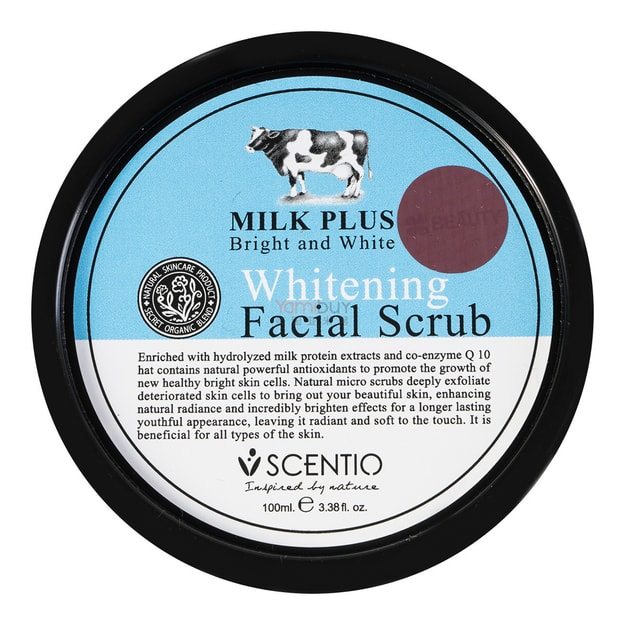 SCENTIO MILK PLUS Whitening Facial Scrub 100ml