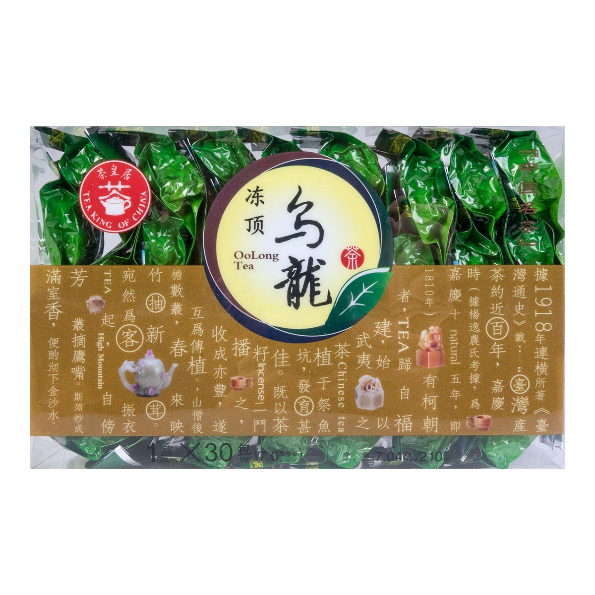 茶皇居 冻顶乌龙茶 盒装 30包入 210g 怎么样 - 亚米网