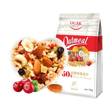 OCAK Fruit and Nut Dry Snack Cereals Meal Replacement Oatmeal 750g