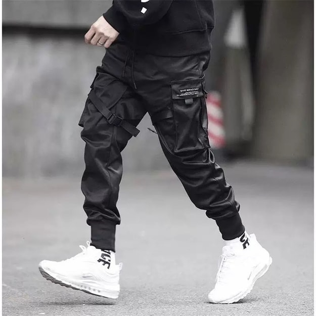 Product Detail - NIEPCE Matte Black Strapped Joggers S 1 Piece - image 0