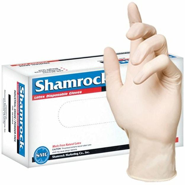商品详情 - 美国Shamrock 一次性无粉天然乳胶手套 大码 100枚 - image  0