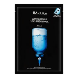 JM SOLUTION Water Luminous S.O.S Ringer Mask Black 1sheet