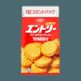 日本YBC 奶油香草夹心饼干  148g