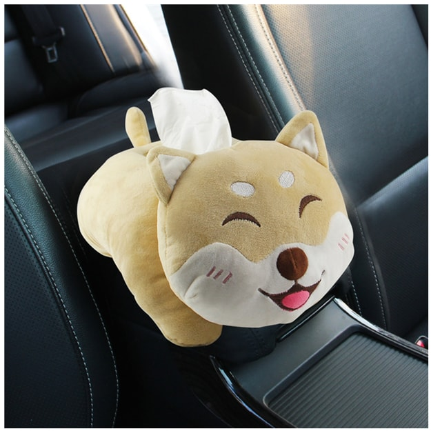 Product Detail - RAMBLE Cartoon car armrest box creative plush paper towel pumping small smiley cat without paper towel 1 piece - image 0