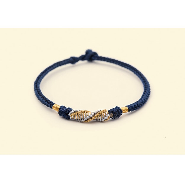 THE PALACE MUSEUM Chinese Velentine's Day Rope Bracelet #Blue Size M