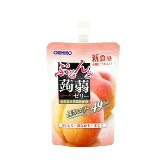 日本ORIHIRO 低卡纤体蒟蒻果冻 桃子味 130g