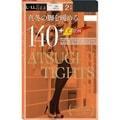 【日本直邮】ATSUGI厚木 天鹅绒发热保暖打底连裤丝袜140D  #黑色L-LL 2双装