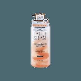 日本LATTE SHAM 咖香研 牛奶咖啡因防脱发 洗护养护保湿洗发水 鸡蛋花+香草拿铁味 400ml