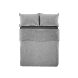 LIFEASE 100% Cotton 4-Piece Bedding Set with Duvet Cover
