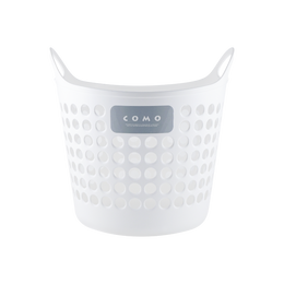 日本INOMATA 塑料收纳筐 中号 白色