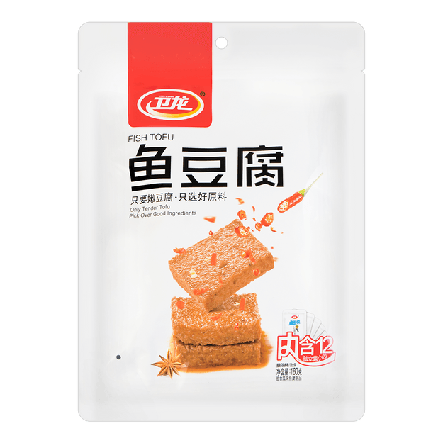 Product Detail - WEILONG Fish Tofu Snack 180g - image 0