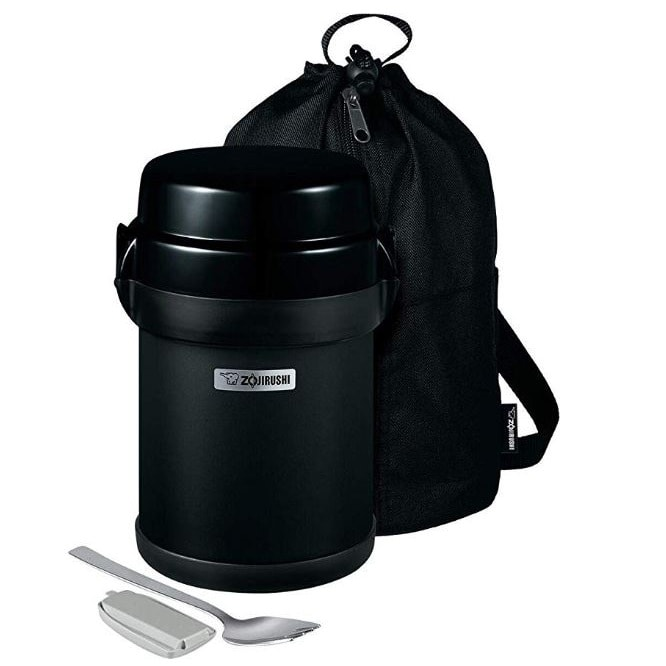 Yamibuy.com:Customer reviews:Mr. Bento® Stainless Lunch Jar 1.23L Black (Bottom Layer Is For Soup)