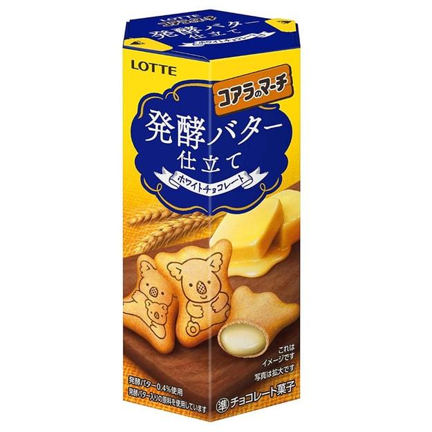 商品详情 - 【日本直邮】 日本本土版 乐天LOTTE 网红夹心小饼干 考拉饼干 发酵黄油味 48g - image  0