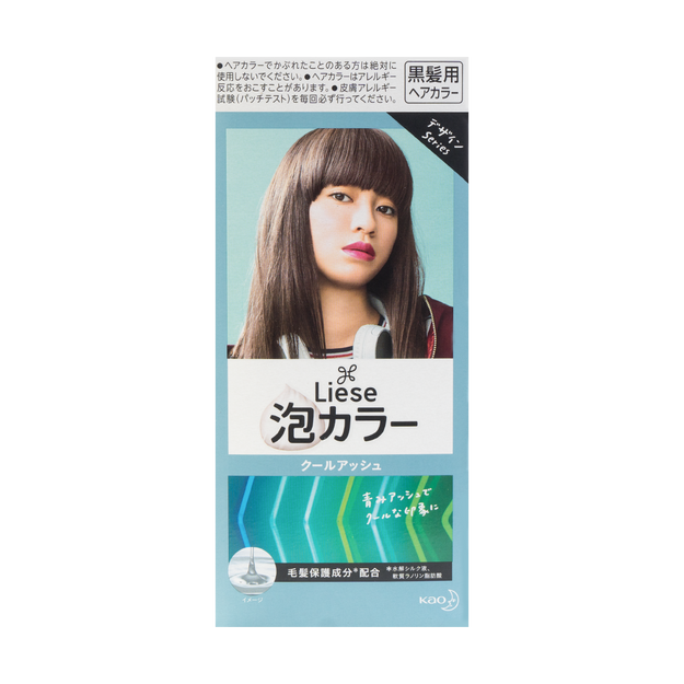 Product Detail - KAO LIESE PRETTIA Bubble Hair Dye #Cool Ash @Cosme Award No.1 - image 0