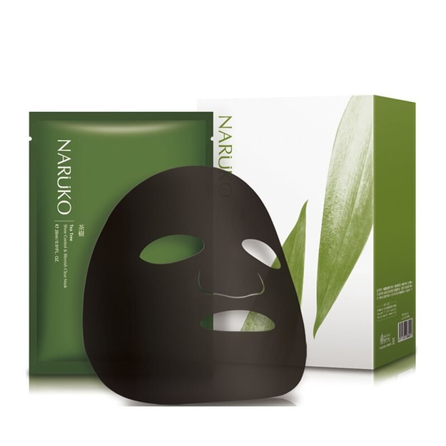 Product Detail - NARUKO Tea Tree Shine Control & Blemish Clear Mask 8 Sheets - image 0