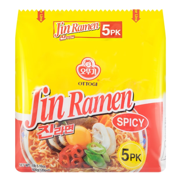 Product Detail - OTTOGI Jin Ramen Spicy 5packs - image 0