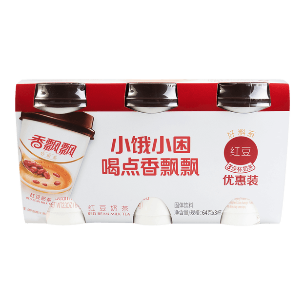 Product Detail - XIANGPIAOPIAO Red Bean Milk Tea 3cups  - image 0