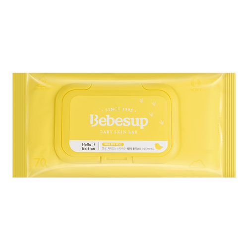 BEBESUP Baby Wipes New Edition Soft 70 sheets