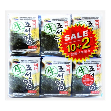 WANG Korean Seasoned Seaweed 10+2packs