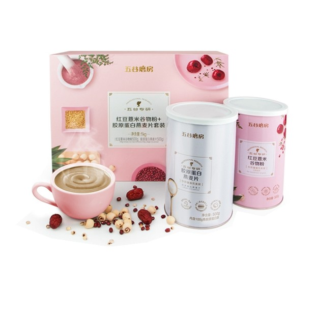 Product Detail - WUGU MOFANG GIFT SET RED BEAN COIX AND CEREAL MEAL + COLLAGEN OATMEAL 1000g - image 0