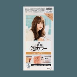 【热销网红色】日本KAO花王 LIESE PRETTIA 泡沫染发剂 #咖啡奶茶棕 单组入