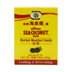 African Sea Coconut Herbal Menthol Cough Throat Soothing Candy 40g