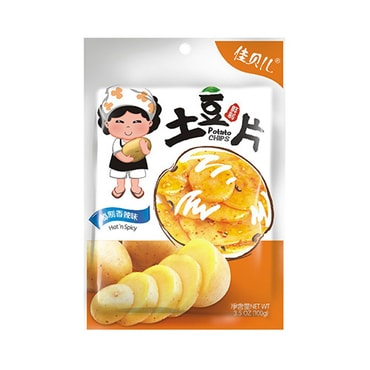YUMEI JIABEIER Potato Chips Hot Flavor 100g