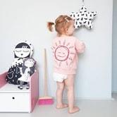 LITTLE ALIEN KIDS 宽松笑脸加州阳光卫衣 4T