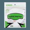 【防疫KN95】欧莱克OULEOK KN95 高性能专业级 防护口罩 防病毒飞沫粉尘微粒 1个装 细菌阻隔率≥95%