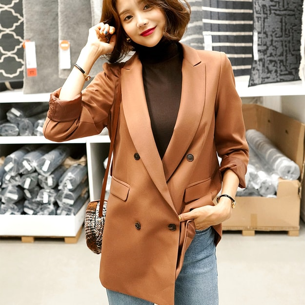Product Detail - WINGS Double-Breasted Blazer #Brown L(40) - image 0