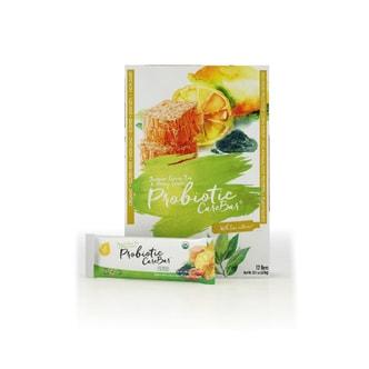 EFFi Foods 有机健康零食 - 益生菌/低糖/高纤维/养生早餐营养棒 – 蜂蜜绿茶味 45g (12支)
