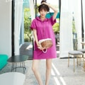 SSUMPARTY Hoodie Dress #Cherry Pink One Size(S-M)