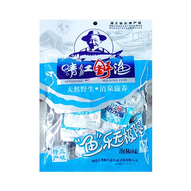 商品详情 - 土老憨 清江野渔鱼肉干 泡椒味 110g 湖北名产 - image  0