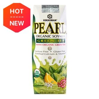 日本KIKKOMAN万字牌 PEARL有机高钙豆奶 抹茶味 240ml USDA认证