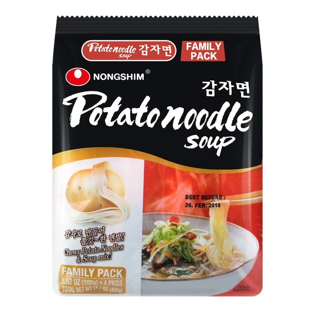 Product Detail - NONGSHIM Potato Noodle Soup 4pcs 400g - image 0