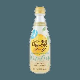 日本POKKA SAPPORO 梨子汽水 果汁1%添加 410ml