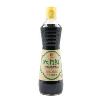 欣和 六月鲜 无添加 特级原汁酱油 500ml