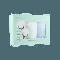 全棉时代 婴儿 儿童 六层一体织造水洗纱布面巾 3条装 最大拉伸尺寸 25cmx50cm 白+粉+蓝