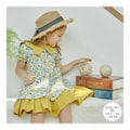 MODELAMI Kid Girl Floral Layered Ruffle Dress #Yellow 120(6-7years)