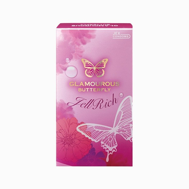 Product Detail - JEX Condoms Glamorous butterfly Gel Rich 8pcs - image  0