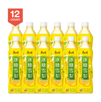 【Value Set】MASTER KONG  Crystal Sugar Pear Drink 500ml Pack of 12